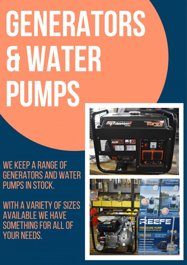 Generator and Water Pumps